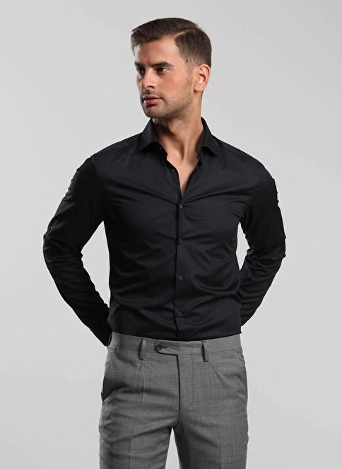 Kip Klasik Gömlek Siyah